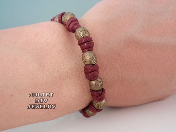 Brass bead zen bracelet